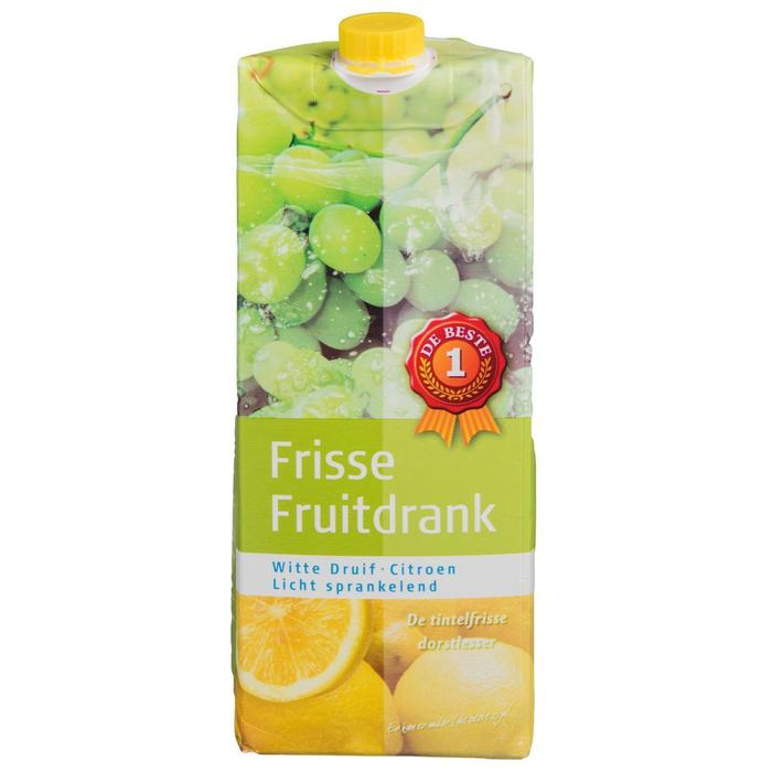 Frisse fruitdrank witte druif & citroen (1.5L)