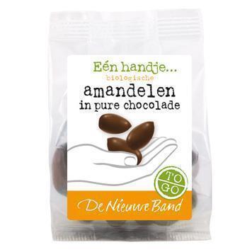 Amandel in pure chocolade (75g)