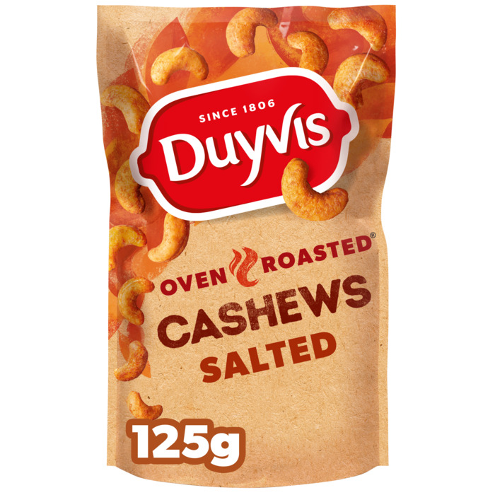 Oven Roasted Cashews Original (zak, 125g)