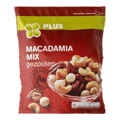 Macadamia mix gezouten gebrand (200g)