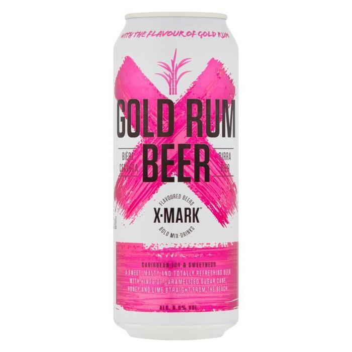 X-Mark Gold Rum beer (flavoured) can 500ml (33cl)