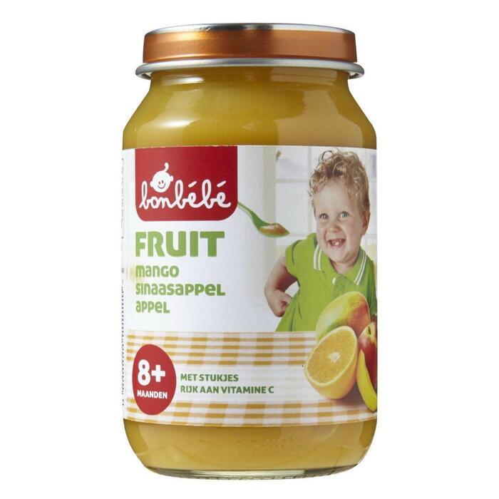 Bonbébé Mango, sinaasappel en appel 8+ maanden (200g)
