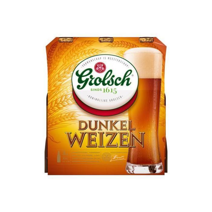 Grolsch Dunkel Weizen Speciaalbier (3 x 30cl) multipack (3 × 30cl)