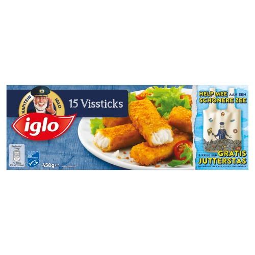 15 Vissticks (doos, 15 × 450g)