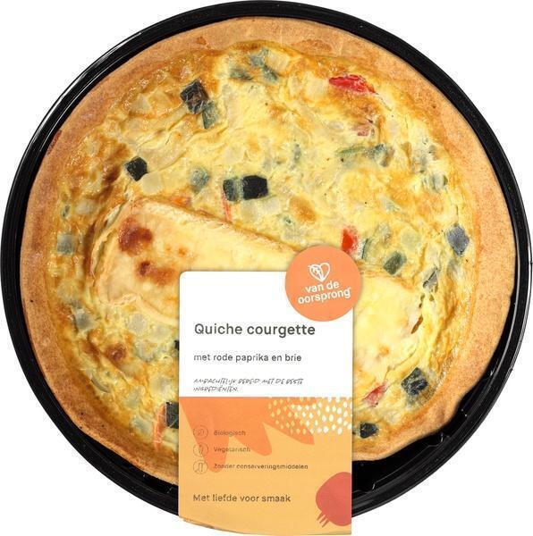 Quiche courgette-paprika-brie (350g)