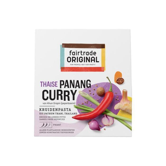 fairtrade ORIGINAL Thaise Panang Curry Kruidenpasta, FT, 70g (70g)