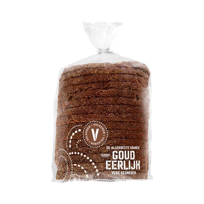 Goudeerlijk Halfje Gesneden Donker Meergranen Brood (Vers Ingevroren) (500g)