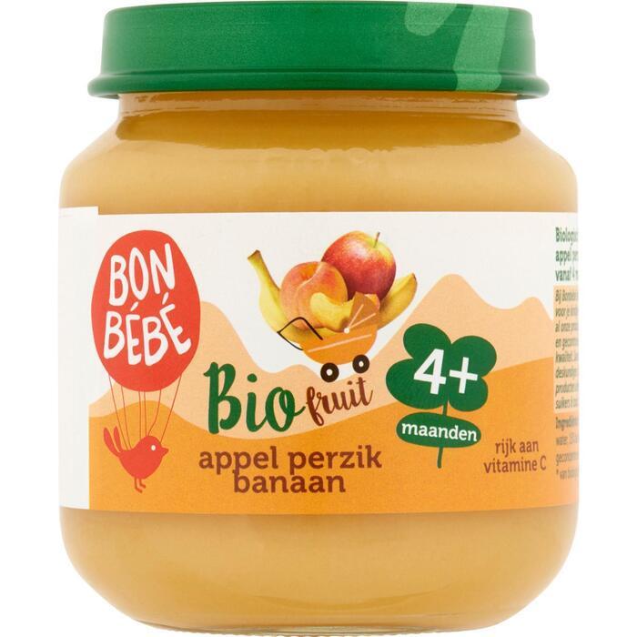 Bonbébé Fruithapje appel perzik banaan (125g)