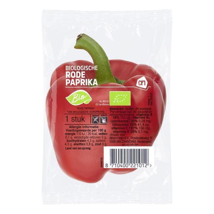 AH Biologisch Rode paprika