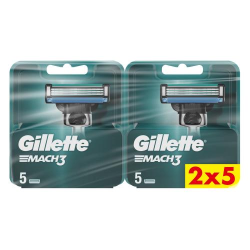 Gillette Mach3 Navulmesjes Voor Mannen Navulmesjes, 2x5 verpakking