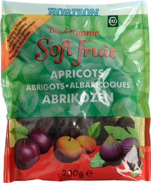 Biologische gedroogde abrikozen (zak, 200g)