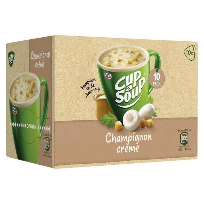 Unox Cup-A-Soup Champignonsoep Crème (Stuk, 10 × 175ml)