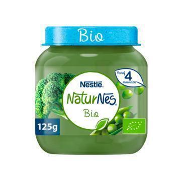 NaturNes Doperwten broccoli 4+ mnd babyvoeding (125g)