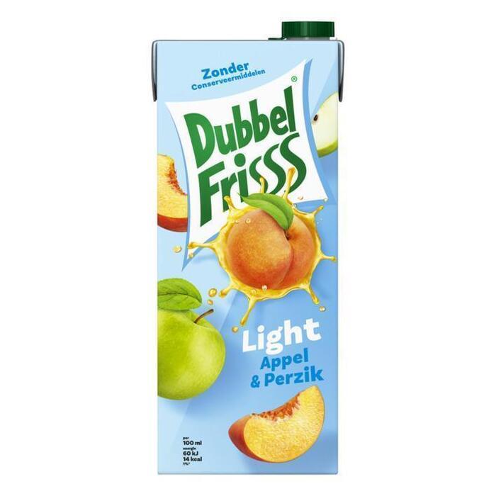 Dubbel Frisss Appel & Perzik Light (kartonnenpak, 1.5L)