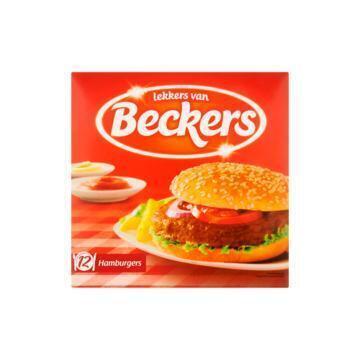 Lekkers van Beckers hamburgers (12 stuks) (12 × 70g)