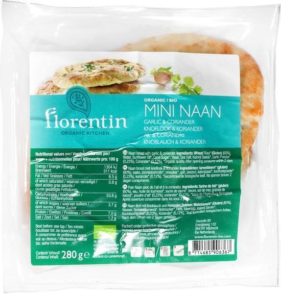 Naanbrood knoflook/koriander (280g)