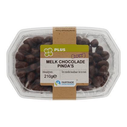 Choco pinda's melk Fairtrade (210g)