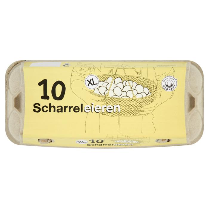 Scharrelei  XL 10 stuks