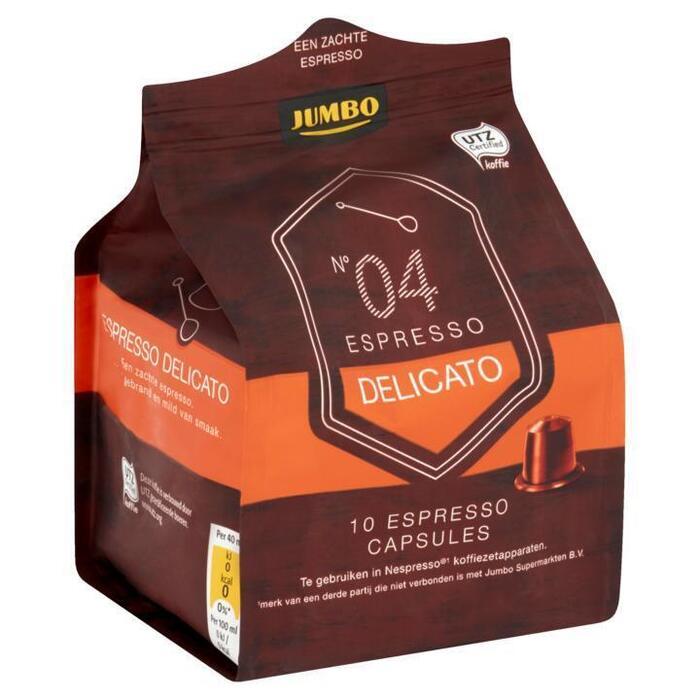 Jumbo N°04 Espresso Delicato 10 Espresso Capsules 52g (52g)