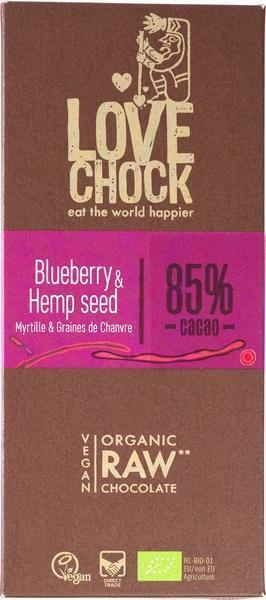 chocotablet blueberry & hempseed (84%) (70g)