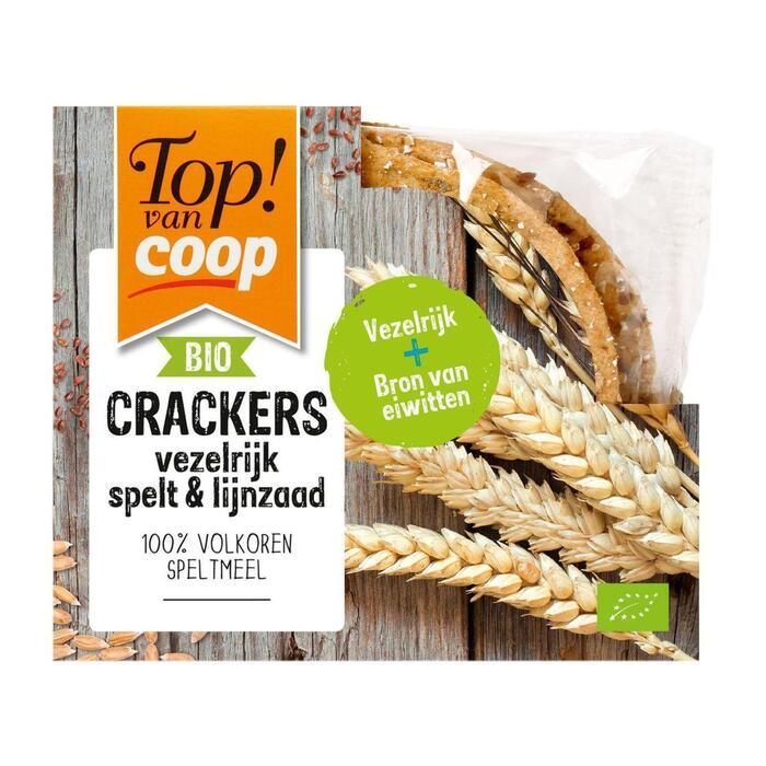 Top! Van Coop Cracker vezelrijk spelt & lijnzaad (175g)