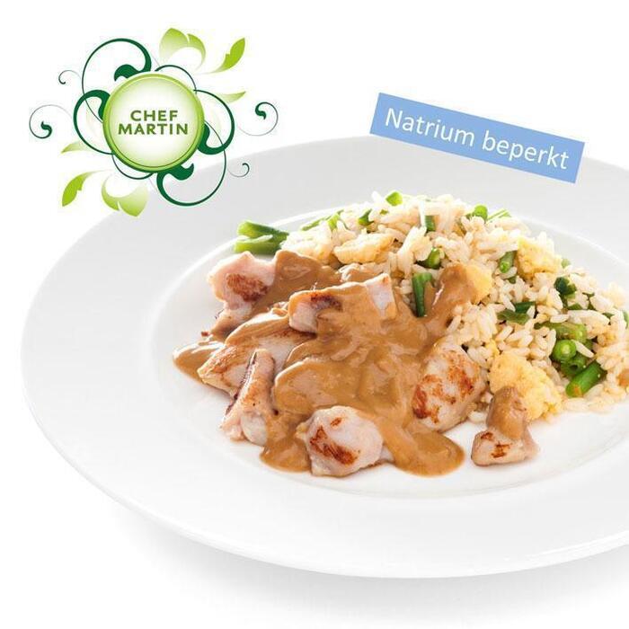 Chef Martin Nasi goreng met kipstukjes en satésaus (358g)