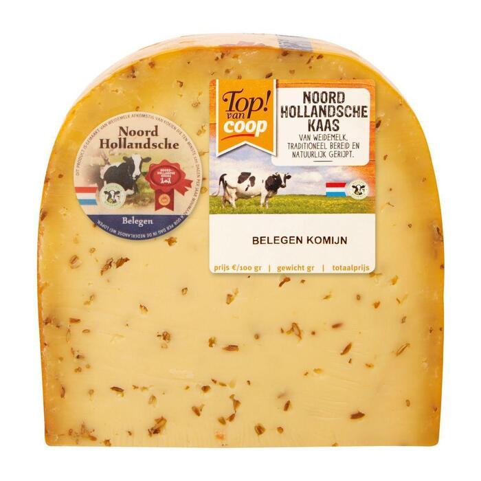 Noord-Hollandsche Belegen komijne kaas stuk (500g)