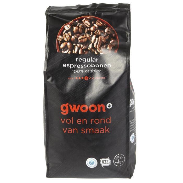 g'woon Espressobonen regular (500g)