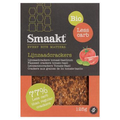 Smaakt Low carb lijnzaad cracker tomaat (125g)
