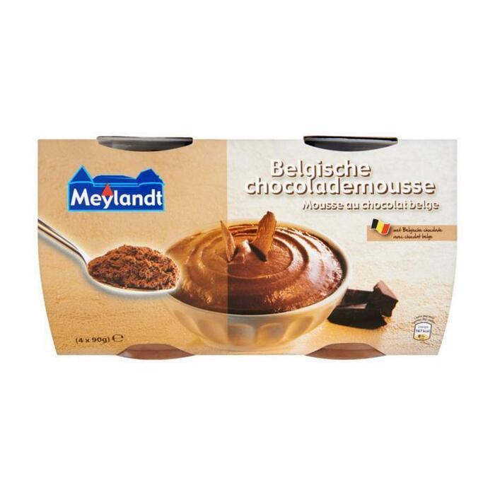 Belgische chocolademousse (bak, 4 × 90g)
