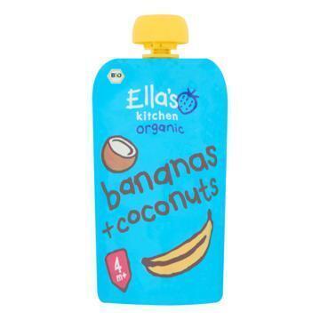 Ella's Kitchen Smoothie Bananas + coconuts 120 gram (120g)