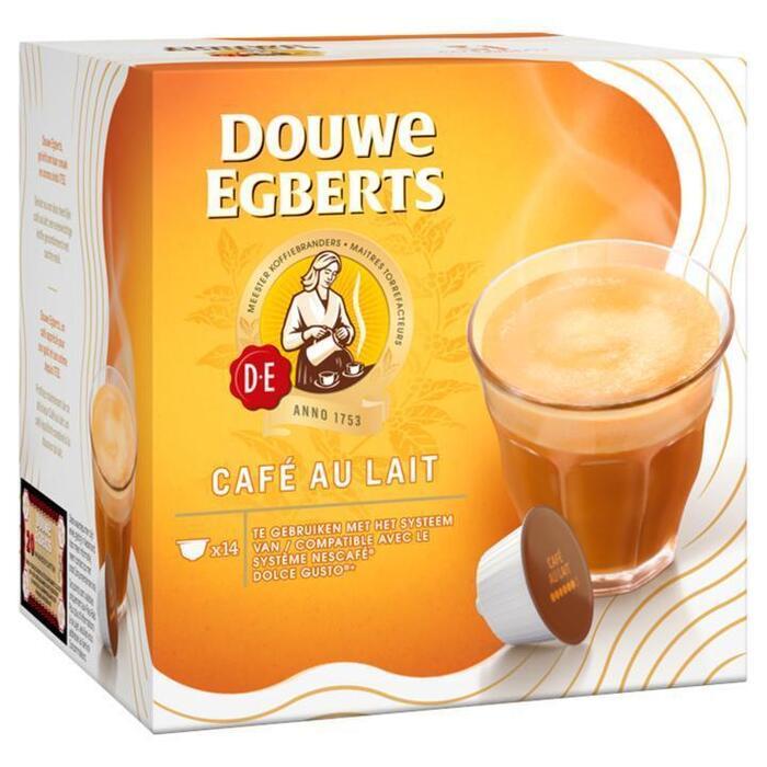 DOUWE EGBERTS KOFFIE INSTANT CAPSULES CAFÉ AU LAIT 140G 14ST BOX (14 × 10g)