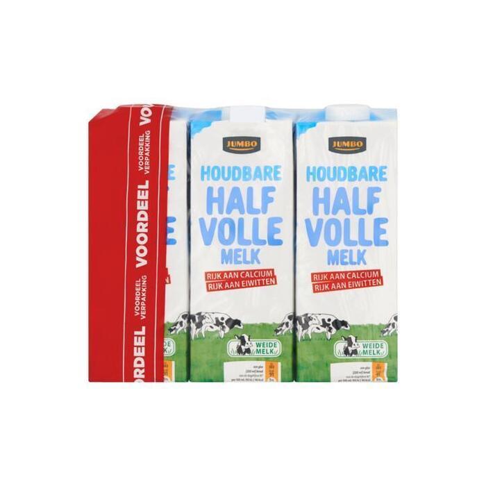 Jumbo Houdbare Halfvolle Melk Voordeelverpakking 6 x 1L (6 × 1L)
