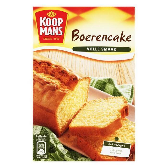 Koopmans Mix voor Boerencake (Stuk, 400g)