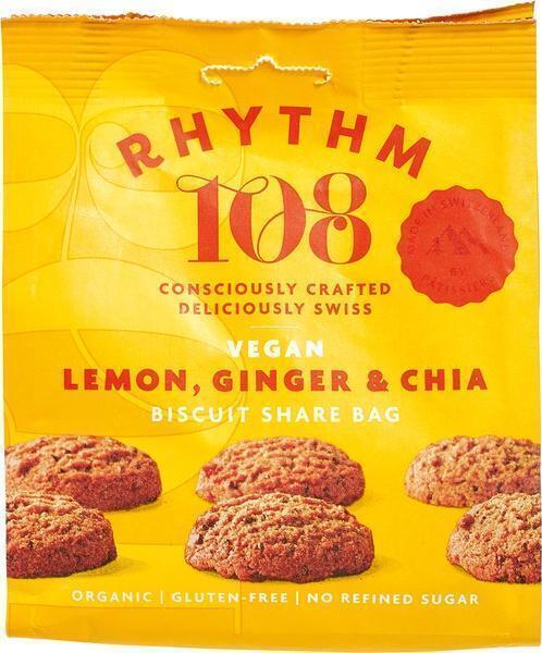 Citroen gember chia biscuit (135g)