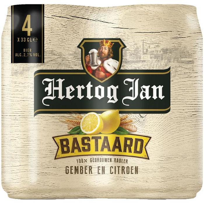 Hertog Jan Bastaard Gember en Citroen Blik 33 cl (rol, 4 × 33cl)