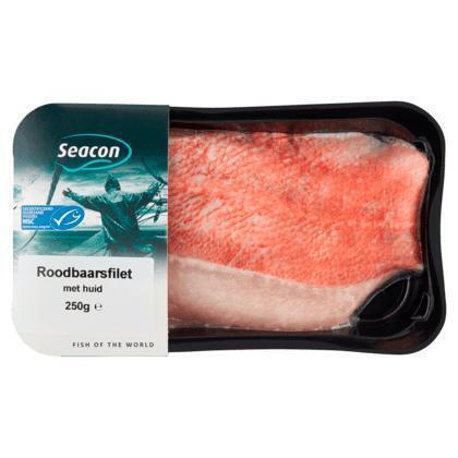 Seacon Roodbaarsfilet met huid (250g)