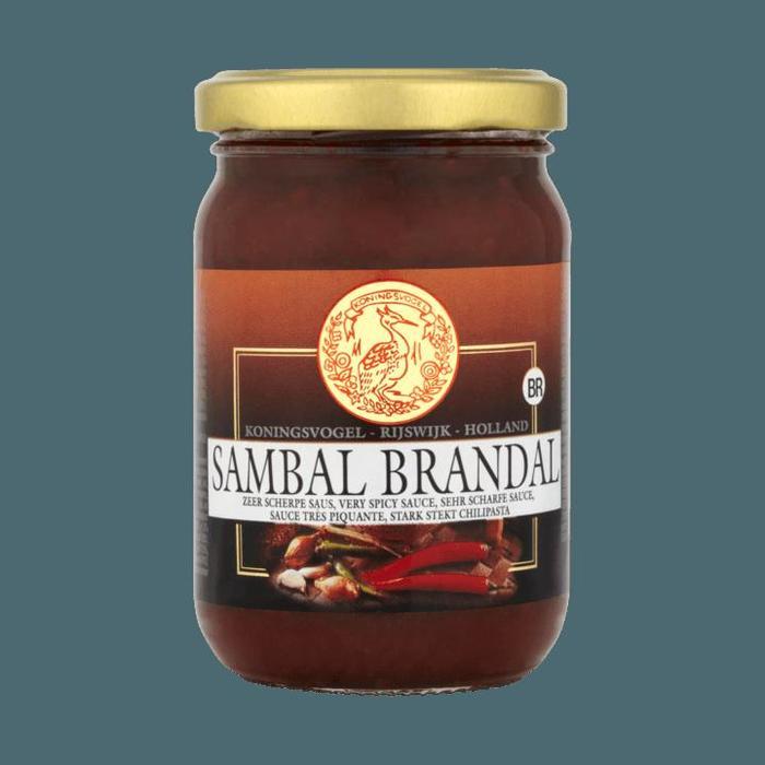 Koningsvogel Sambal Brandal 200 g (Stuk, 200g)