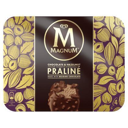 Magnum hazelnut praline 4 stuks (Stuk, 6 × 288g)