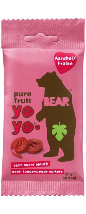 Bear Pure Fruit yoyo's strawberry 2 stuks (2 × 10g)