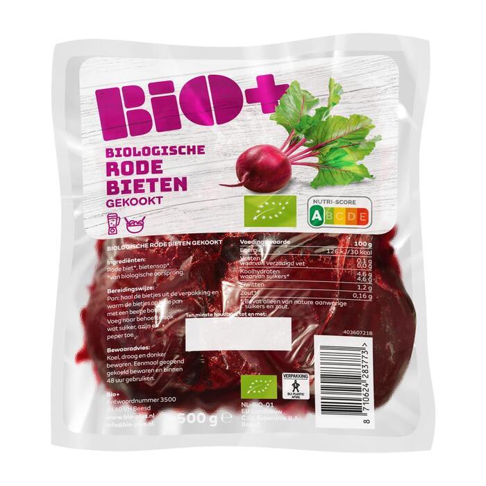 Rode biologische bieten vacuum verpakt (500g)