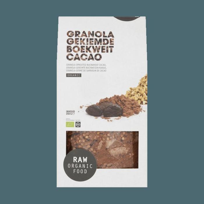 Raw Organic Food Granola boek / cac (250g)