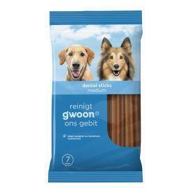 g'woon Dental Sticks Medium 7 Stuks (7 × 180g)