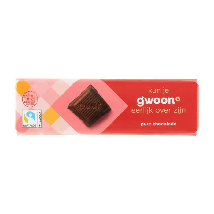 g'woon Chocoladereep puur (100g)