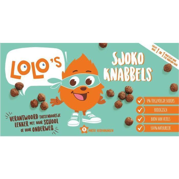 Lolo's Sjoko knabbels (5 × 100g)