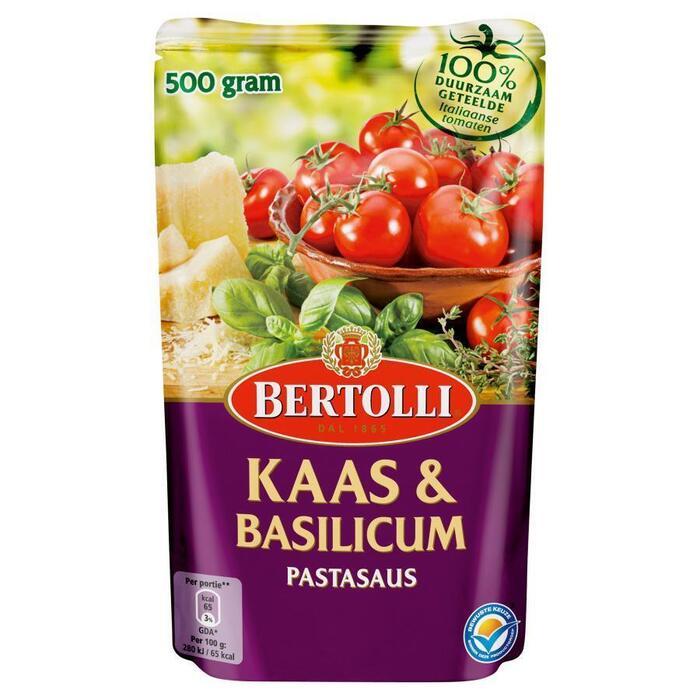 Pastasaus in zak kaas&basilicum (500g)
