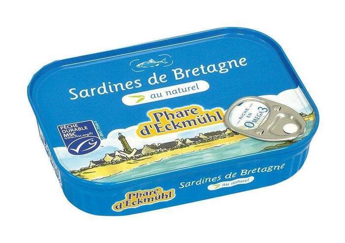 Sardines uit Bretagne naturel (blik, 135g)