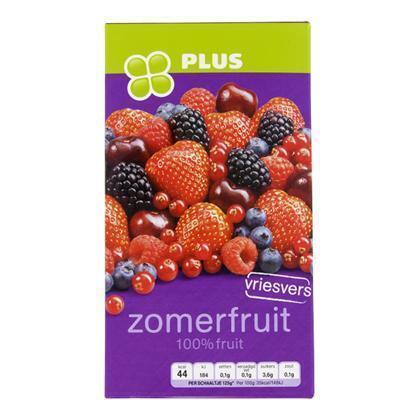 vriesvers zomerfruit, 100% fruit, (doos, 250g)