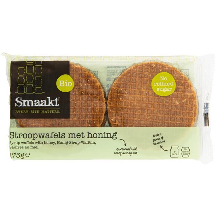 Smaakt Stroopwafels met honing 175 g zak (175g)
