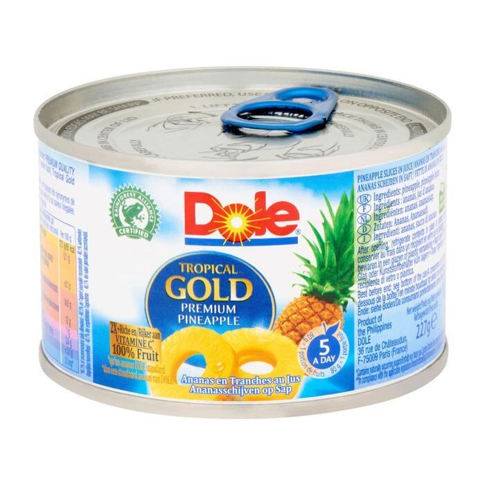 Dole Tropical gold ananasschijven (227g)